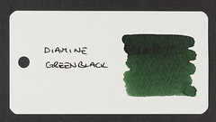 Diamine Green/Black - Word Card