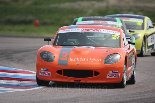 Dave Wooder in the Ginetta Juniors Race during the BTCC Weekend at Thruxton, May 2016