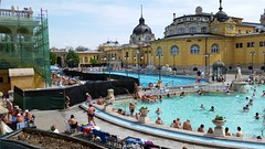 Szechenyi baths outdoor pools - the middle one is only for laps