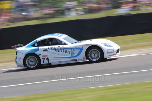 Will Tregurtha in Ginetta Juniors during the BTCC weekend at Oulton Park, June 2016