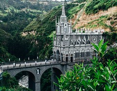 One more angle of Las Lajas Sanctuary. #theworldwalk #travel #colombia