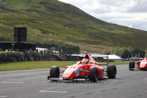 Jack Martin in the final British Formula Four race during the BTCC Knockhill Weekend 2016