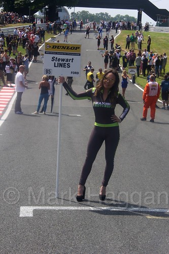 Stewart Lines' grid board during the BTCC weekend at Oulton Park, June 2016