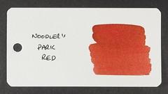 Noodler's Park Red - Word Card