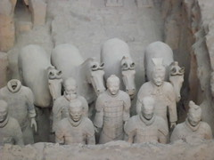 A close up of the warriors in situ