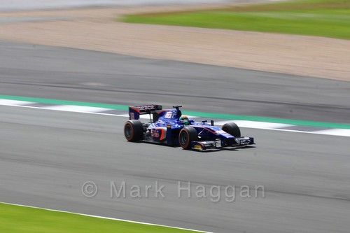 Sergio Canamasas in his Carlin car in GP2 Practice at the 2016 British Grand Prix
