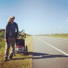 The Road Ahead. Day 39. Dry and hot on Rt.12 above Avon, NC. #TheWorldWalk #obx #nc #travel #beach