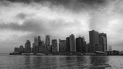 Wintry morning over lower Manhattan