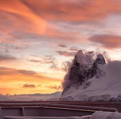 A stunning sunrise in Antarctica