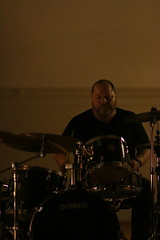 Drummer in a room not made for drummers