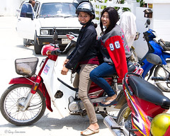 """Girls on a motor bike • <a style=""""font-size:0.8em;"""" href=""""http://www.flickr.com/photos/23163398@N00/45865576754/"""" target=""""_blank"""">View on Flickr</a>"""