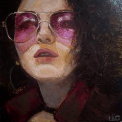 Marianne, olio su tela, 30x30 cm, 2018
