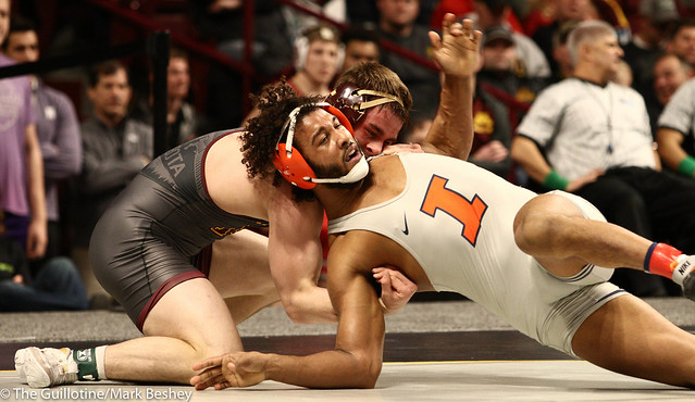 Champ. Round 1 - Dylan Anderson (Minnesota) 13-8 won by decision over Andre Lee (Illinois) 13-13 (Dec 4-1) - 1903amk0202