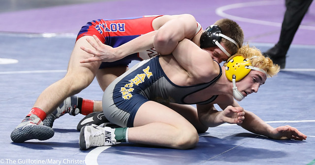 138AA 3rd Place Match - Carter Entinger (Watertown Mayer-Mayer Luth.) 38-4 won by decision over Bryce FitzPatrick (Mahtomedi) 39-11 (Dec 6-5). 190302BMC3742