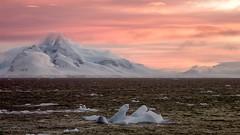 A beautiful sunrise in Antarctica