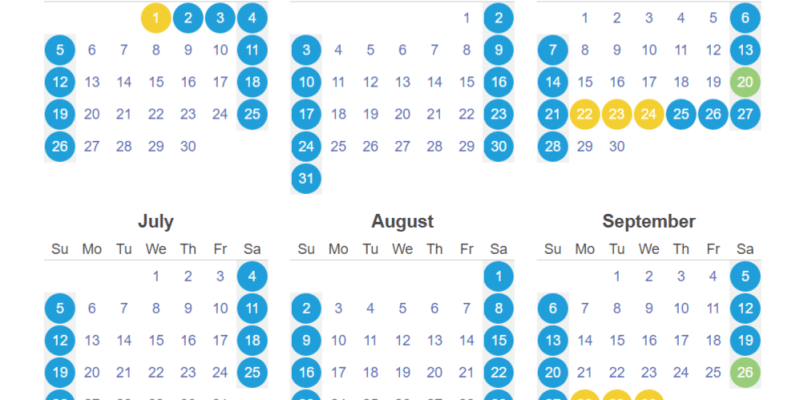 【台灣。生活】2020年台灣假期行事曆