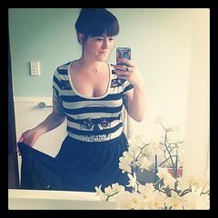 Day 5 of #dressember: skull tee & sheer maxi skirt