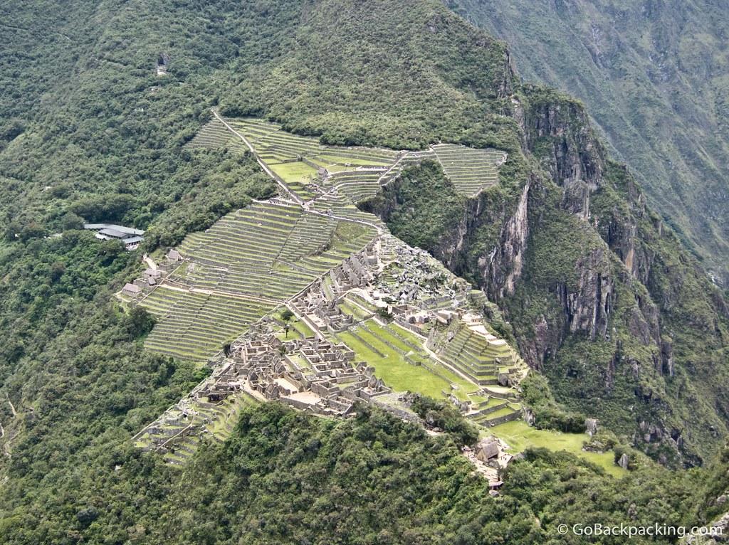 View of Machu Picchu from atop Wanya Picchu