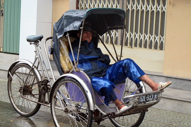 Cyclo Driver Takes a Rest