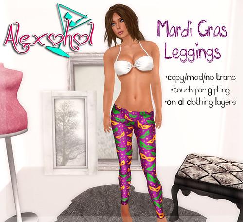Mardi Gras Leggings