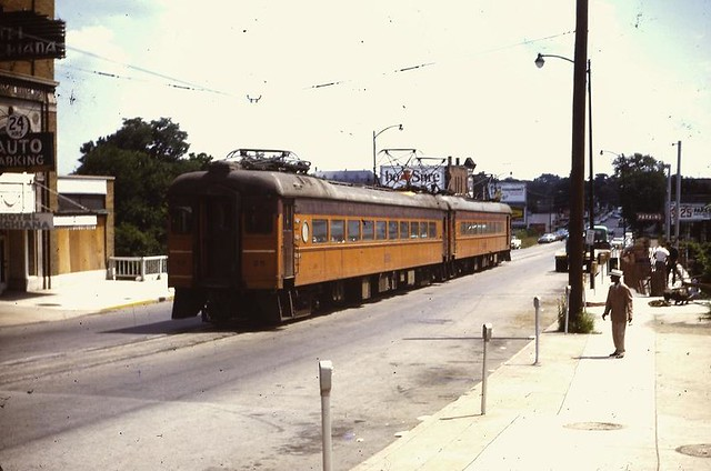 South Bend, IN - South Shore RR on LaSalle St. - August, 1969
