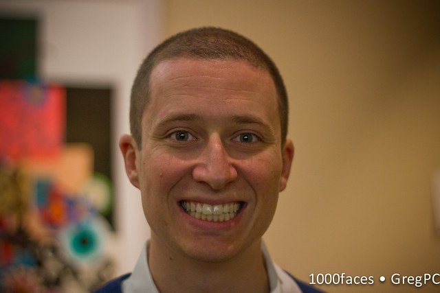 Face - man with short hair and a big smile