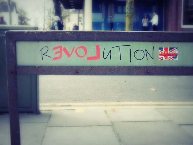 Revolution Love grafitti