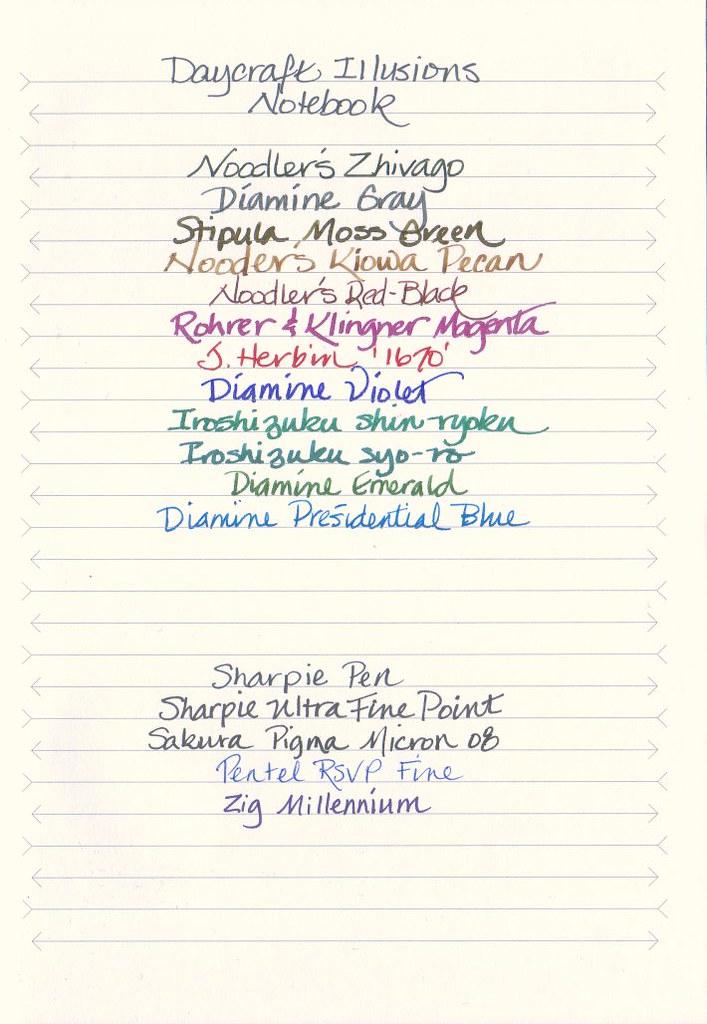 Daycraft Illusions Notebook Written Sample