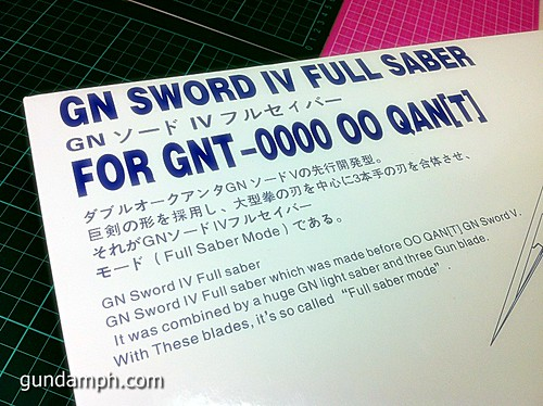 GN Sword 4 IV Full Saber QuanT 1-100 BTF Coversion Kit Unboxing (6)