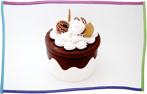 Scatola cioccolato e panna