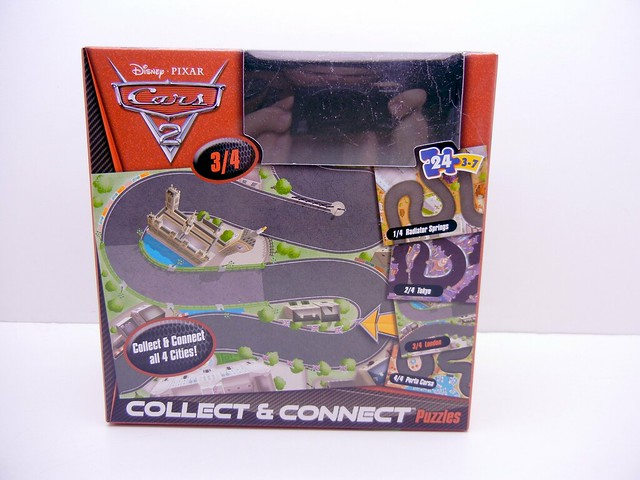 DISNEY CARS 2 COLLECT AND CONNECT PUZZLE #3 LONDON LIGHTNING MCQUEEN EXCLUSIVE (1)