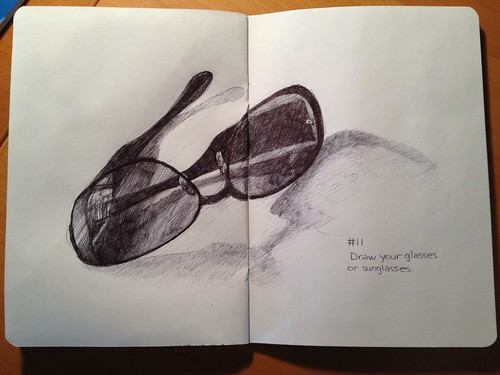 Sketchbook Project/EDM #11 Draw your glasses or sunglasses