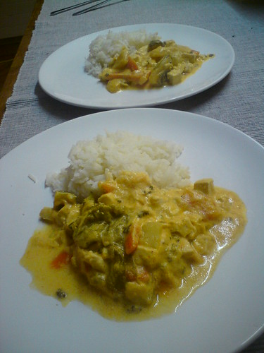 red thai curry with Tofu by the real Caffeamore