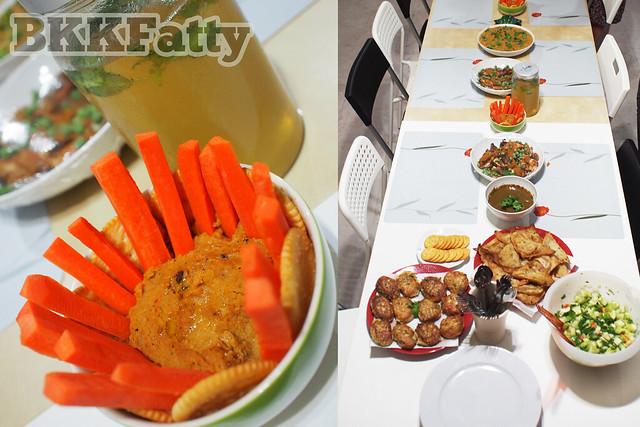 table closeup indian dinner bangkok
