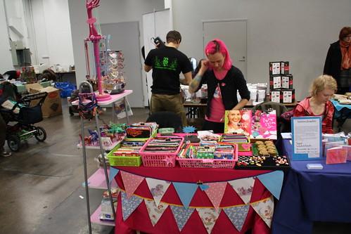 Pinkkis table at Eettiset Joulumyyjäiset 2011