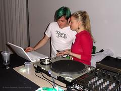 DJ bei der Ostkreuzfinissage