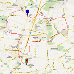 04. Bike Route Map. Etra Lake Park, Hightstown, NJ