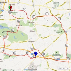 19. Bike Route Map. Etra Lake Park, Hightstown, NJ