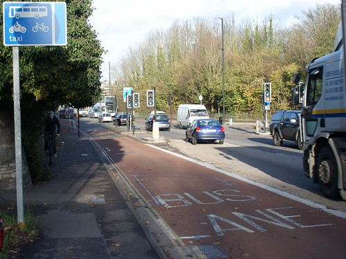 Bus Lane Looking Towards Bristol From the Wells Road