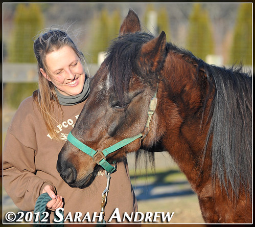 Jessica and Anouk Busch at Horse Rescue United