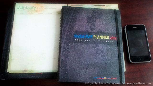 Awesome Planner 2012 - Food and Travel Guide