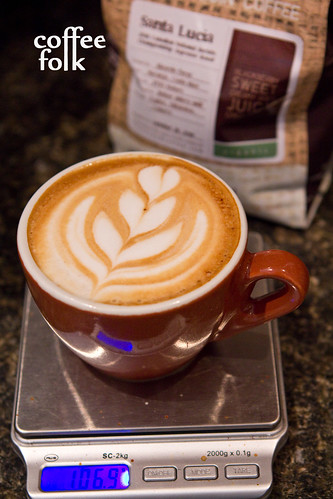 Cappuccino with five-push tulip.