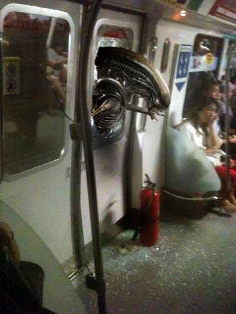 The new, upcoming Alien movie was shot in Singapore, set in a SMRT train (image via EDMW)