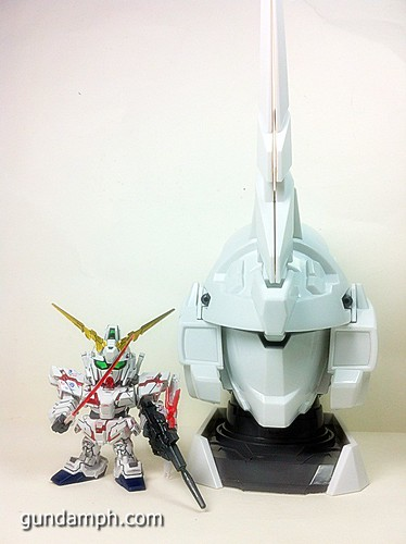 Banpresto Gundam Unicorn Head Display  Unboxing  Review (51)