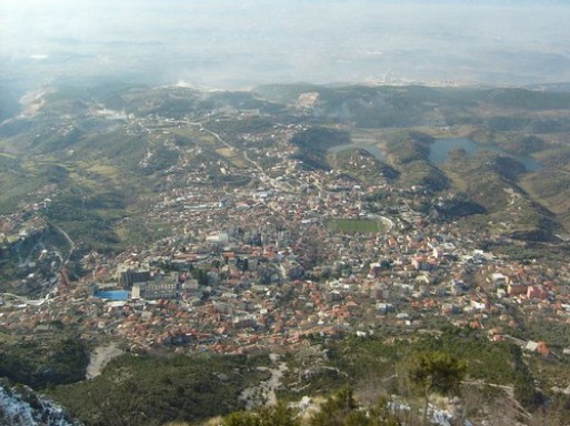 View towards Kruja from the mountain