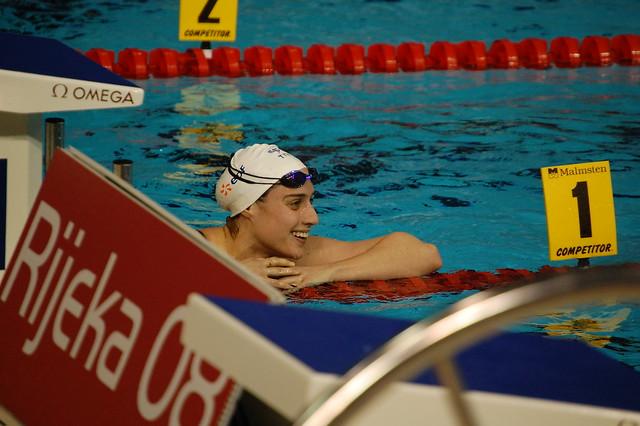 Sophie de Ronchi after winning bronze at Rijeka 2008