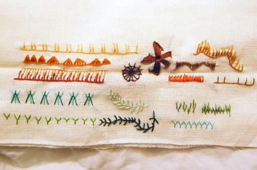 tast 2012 #2: buttonhole stitch borduren festonsteek