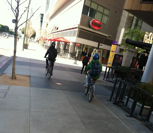 Bicyclists at LA Live