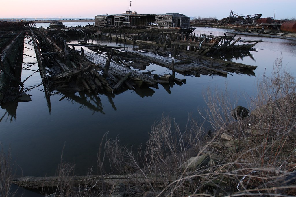 Rotting Hulls in Arthur Kill
