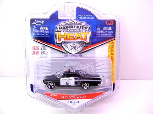 jada toys badge city heat '59 chevy impala police (1)